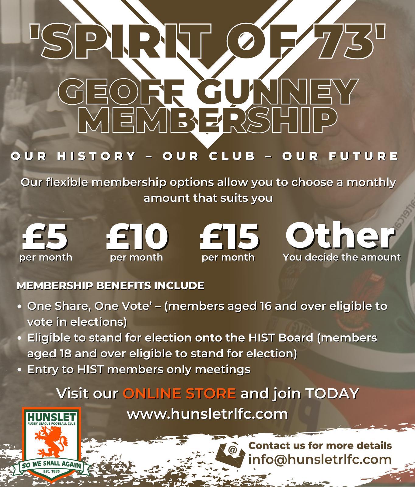 Spirit of 73 - Geoff Gunney £5