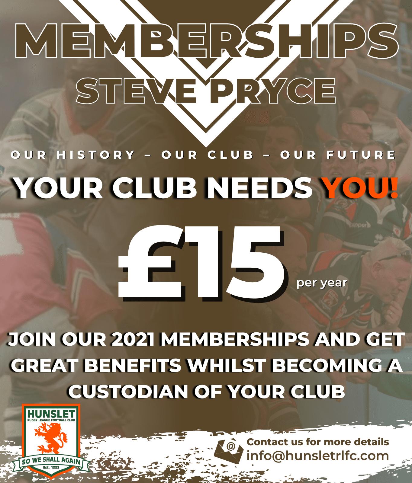 Steve Pryce - Standard membership